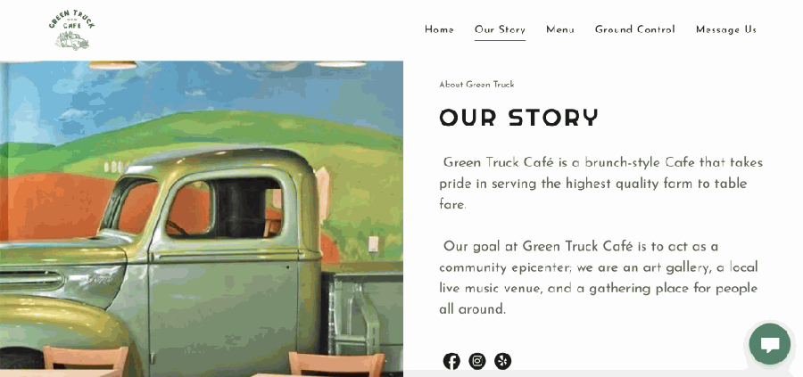 The brunch-style cafe announced plans to close Nov. 15. (Screenshot from Green Truck Cafe website)