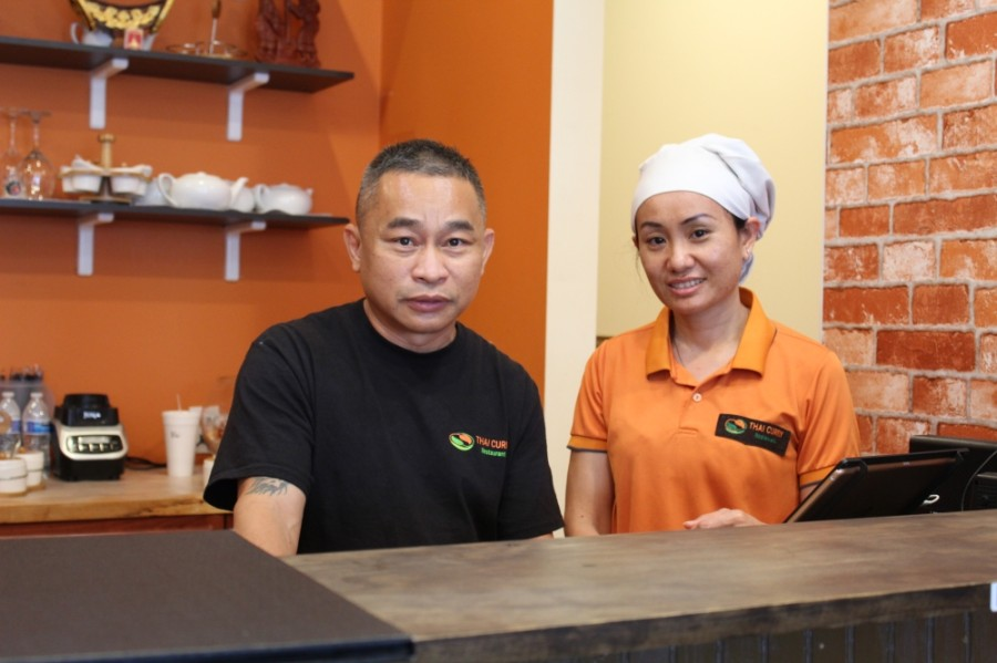 Boun Chokbeng (right) and Nitaya Dethlusay run Thai Curry on Barker Cypress Road in Cypress. (Shawn Arrajj/Community Impact Newspaper)