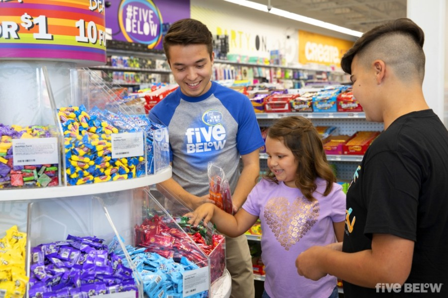 Discount store chain Five Below opened a new location at Fairfield Town Center this fall. (Courtesy Five Below)