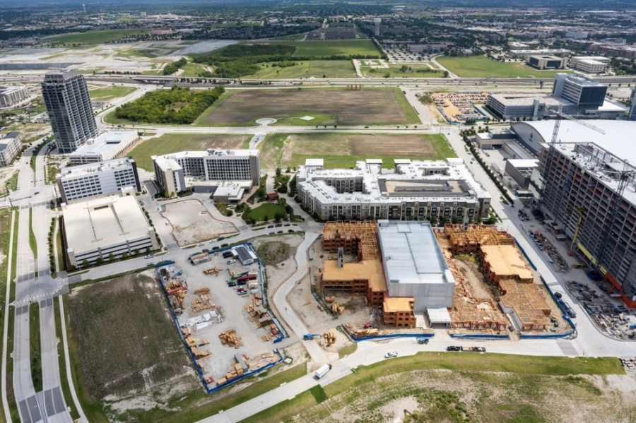 The developers of Frisco Station recently began work on Canyon East, the second phase of the project's 30-acre park system. (Courtesy Frisco Station)