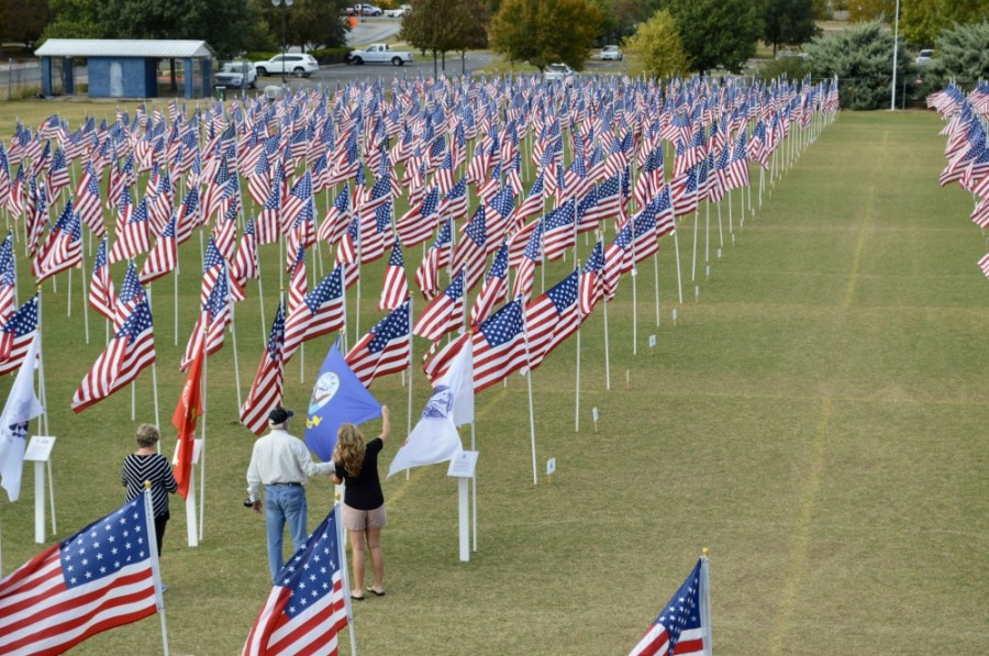 Field of Honor took place Nov. 7-15 at San Gabriel Park in Georgetown. (Taylor Girtman/Community Impact Newspaper)