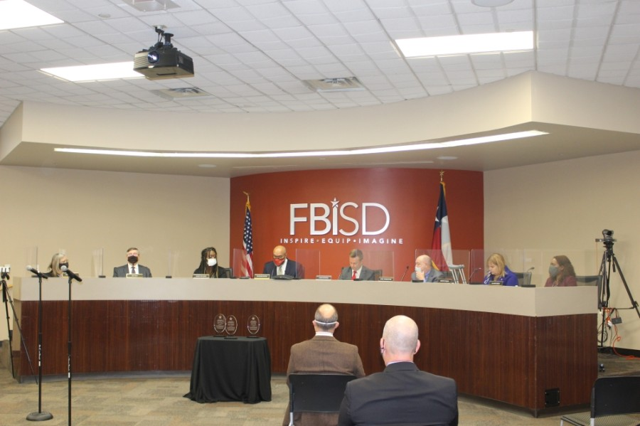 The Fort Bend ISD board of trustees met Nov. 16 to thank outgoing board members and swear in newly elected trustees. (Claire Shoop/Community Impact Newspaper)