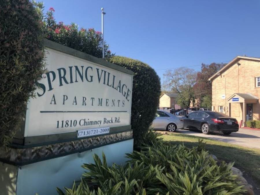 Houston purchased the Spring Village Apartments and plans to tear them down to use the site as greenspace for flood mitigation. (Matt Dulin/Community Impact Newspaper)
