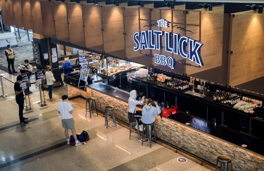 Airport concessions have reopened over the summer, with 35 of 60 vendors now offering services. (Courtesy Austin-Bergstrom International Airport)