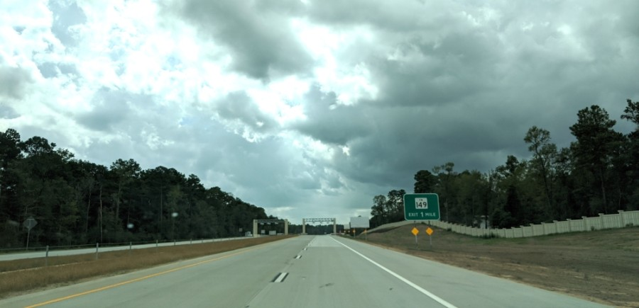 The section of Hwy. 249—from FM 1774 in Pinehurst to FM 1488 in Magnolia—opened in August. (Anna Lotz/Community Impact Newspaper)