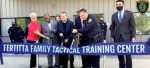 ribbon cutting at houston police tactical training facility