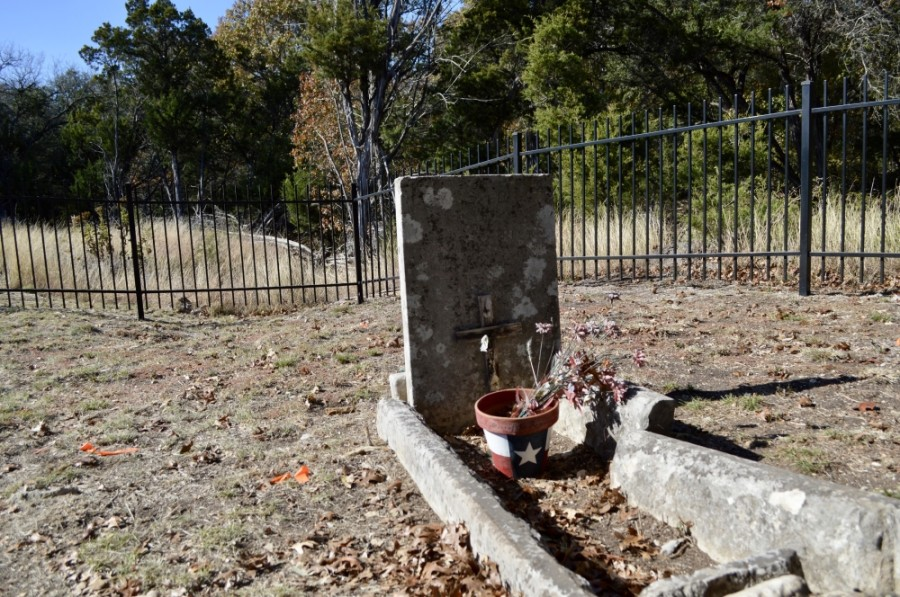 There are 15 graves in the cemetery, including that of Mary Ann Manlove Fisk, Greenleaf Fisk's first wife. (Taylor Girtman/Community Impact Newspaper)