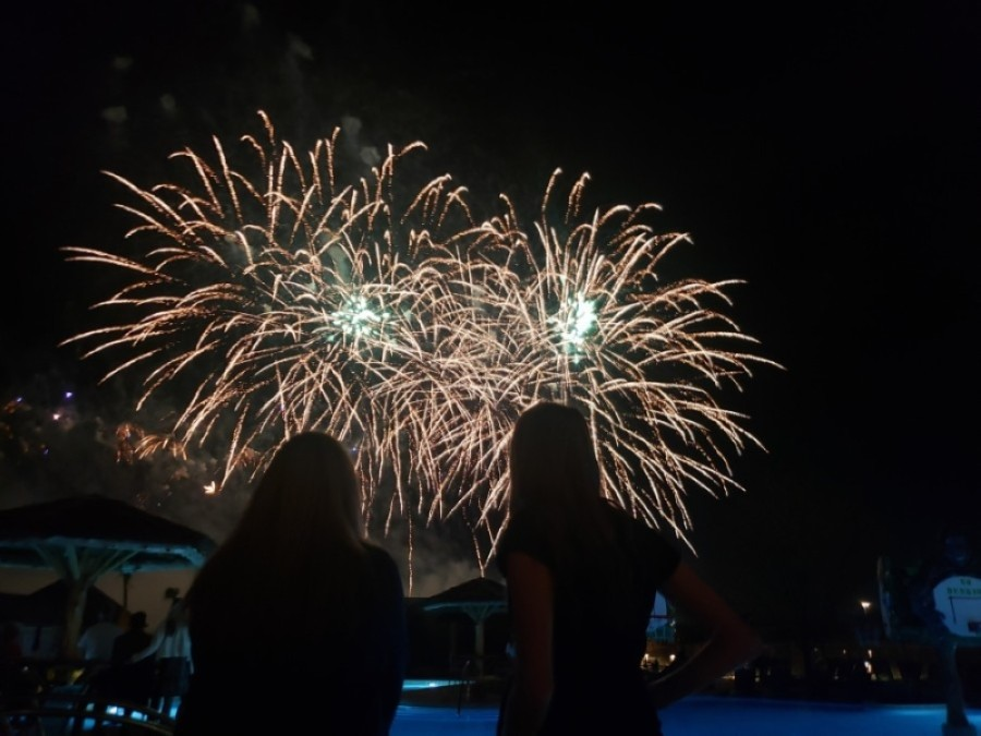 Kalahari Resorts & Conventions ended its grand opening event with a fireworks display Nov. 14. (Ali Linan/Community Impact Newspaper)
