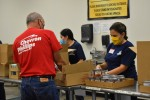 Helping at the food bank is just one way to give back to the community. (Courtesy Montgomery County Food Bank)
