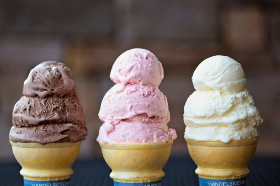 The ice cream parlor offers more than 50 flavors of ice cream; yogurt; sherbet; ice; and fat-free, no-sugar-added ice cream available by the quart, pint, scoop or cone. (Courtesy Handel's Homemade Ice Cream)