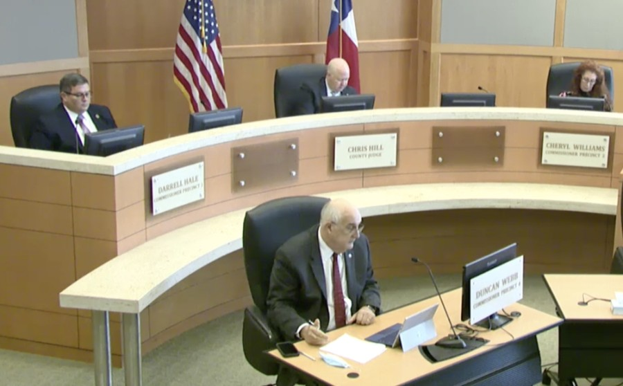 Collin County commissioners unanimously approved a $2 million allocation of federal funding to continue reimbursements of local food pantries. (Screenshot courtesy Collin County)