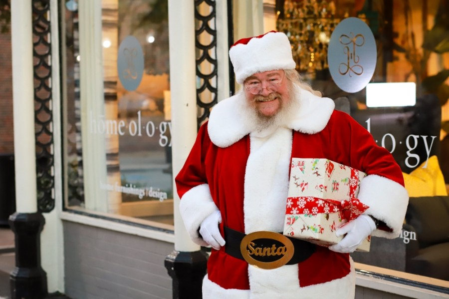 Santa Claus has arrived in downtown McKinney and is ready to ring in the holidays. (Courtesy city of McKinney)