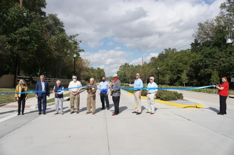 Harris County Precinct 4 and the Champions Municipal Utility District celebrated the completion of Champions Drive in a ribbon-cutting ceremony Nov. 19—just weeks before the 2020 U.S. Women's Open Golf Tournament is scheduled to take place in the area. (Courtesy Harris County Precinct 4)