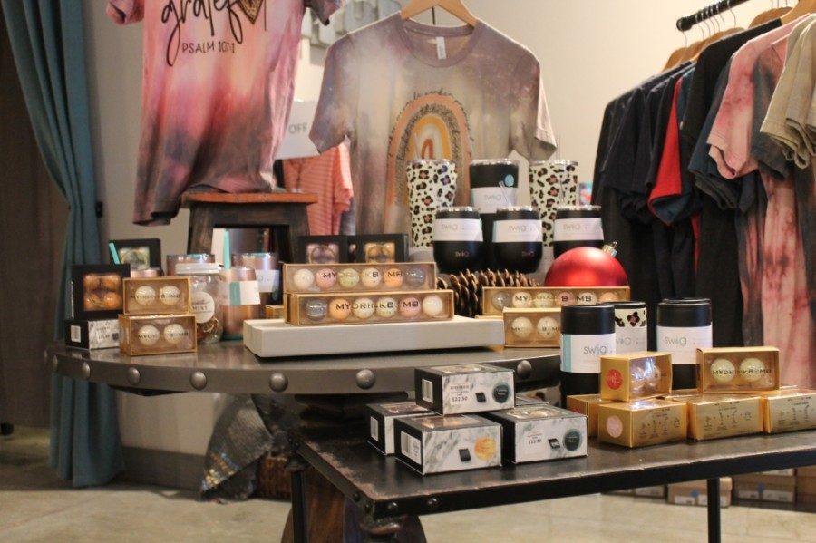 Adelaide's sells items from local brands whenever possible, such as kits from The Heights-based My Drink Bomb. (Colleen Ferguson/Community Impact Newspaper)