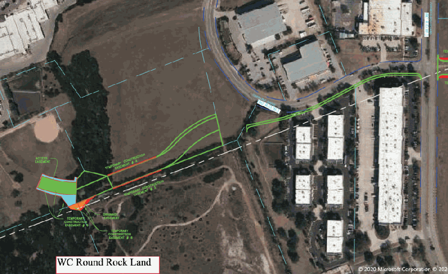 Round Rock City Council approved a resolution for the Oakmont Drive extension. (Courtesy Round Rock City Council and Google Earth)