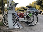 Bicycles for public use are docked at a MetroBike station on Lake Austin Boulevard. Austin's $460 million Proposition B will include funding for additional bicycle lanes through the city. (Jack Flagler/Community Impact Newspaper)