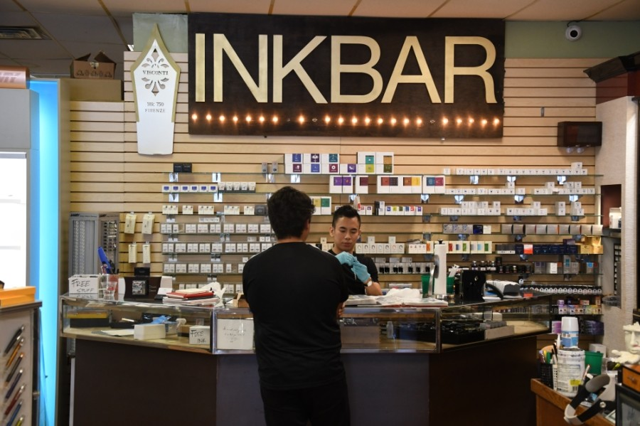 Dromgoole's has an Ink Bar that allows customers to test out any of the store's pens. (Hunter Marrow/Community Impact Newspaper)