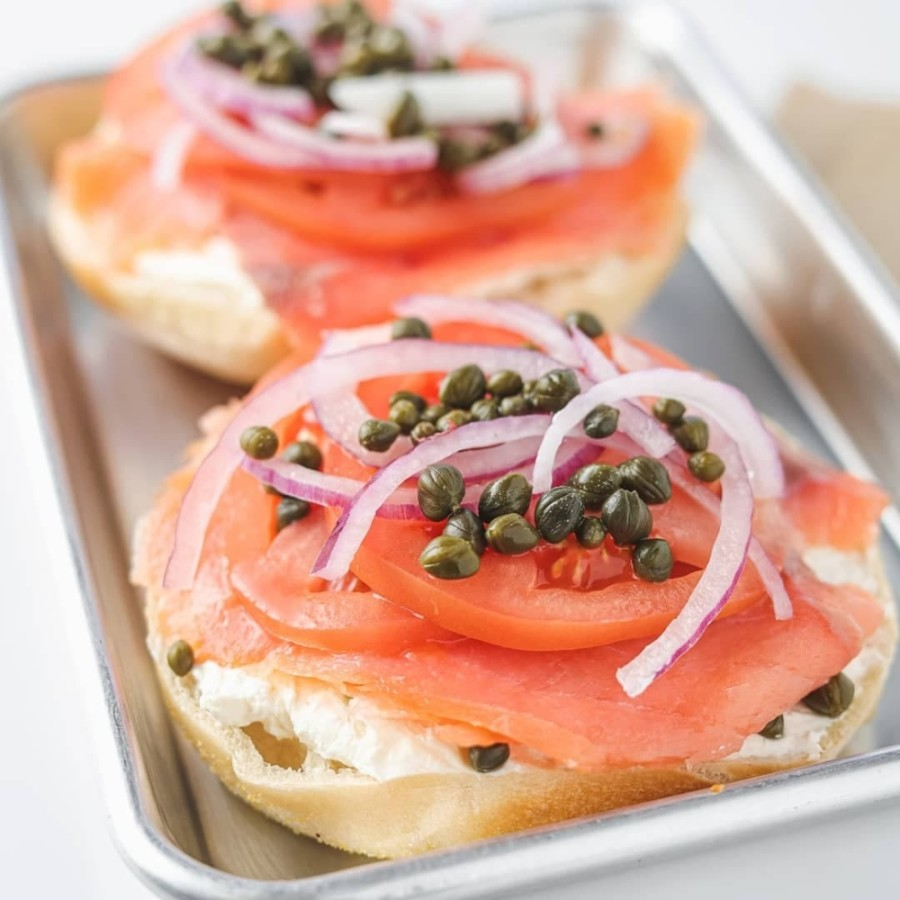 The bagel shop will offer 21 varieties of New York-style bagels, including breakfast and lunch options, and 12 cream cheese choices. (Courtesy Bagel Cafe 21)