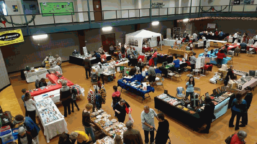 The craft show is a yearly event that showcases handcrafted items, holiday decor, jewelry, paintings, candles and other homemade goods created by area vendors. (Courtesy Pflugerville Parks and Recreation Department)