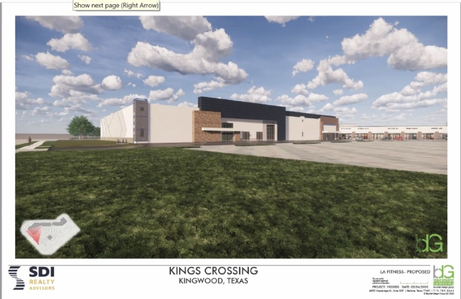 Kings Crossing shopping center, located at the northwest corner of Kingwood Drive and West Lake Houston Parkway, will undergo renovations under new management. (Screenshot courtesy Kingwood BizCom and SDI Realty)