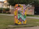 League City wants to paint traffic utility boxes with miniature murals, similar to those seen in Houston. (Jake Magee/Community Impact Newspaper)