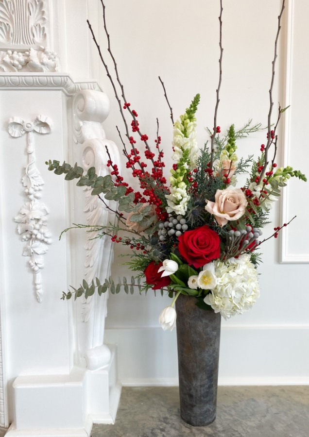 Piney Rose is offering custom winter arrangements. (Courtesy Piney Rose)