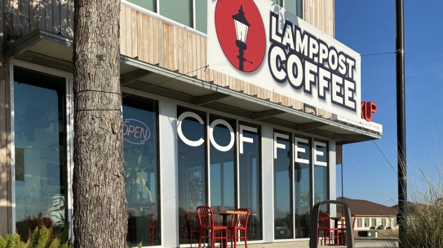 Giveaways will be held during Lamppost Coffee's Dec. 12 grand opening of its San Marcos location. (Courtesy Lamppost Coffee)