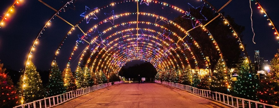 Austin's holiday light display is a drive-thru event for 2020, with more than 2 million holiday lights, 90 decorated trees and 70 other displays. (Courtesy Austin Trail of Lights)