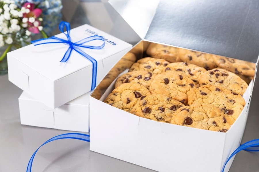 Tiff's hot chocolate chip cookies were the first product Tiffany and Leon Chen sold when they started their business as undergraduates at the University of Texas at Austin. (Courtesy Tiff's Treats)