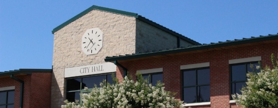 Friendswood city hall, stock image photo
