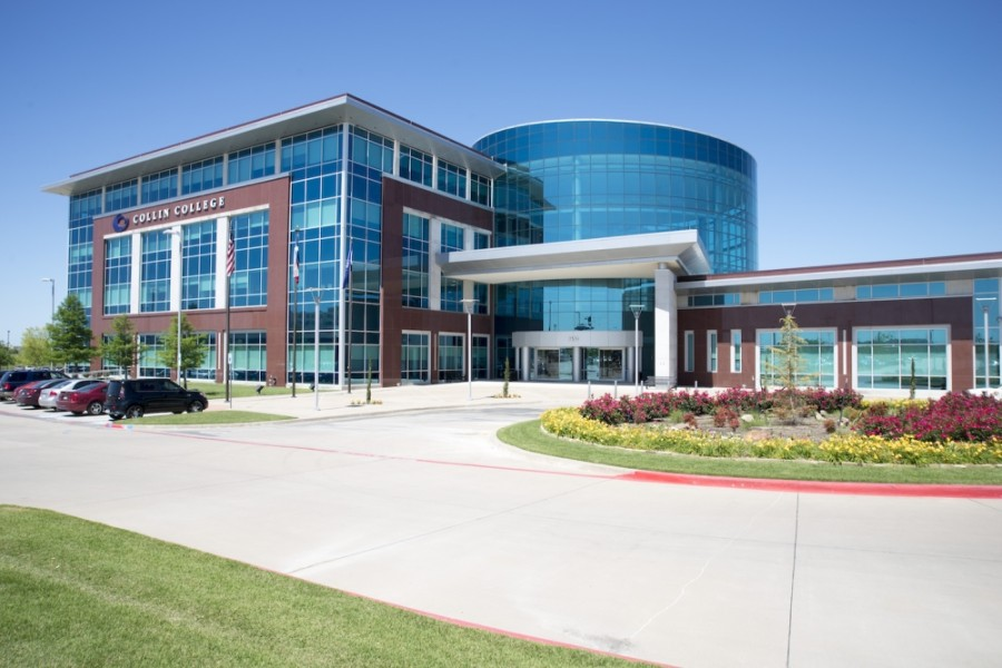 As with the other nine Collin College facilities, the Collin Higher Education Center in McKinney will be closed for additional days during winter break due to the recent surge of coronavirus cases in the region. (Courtesy Collin College)