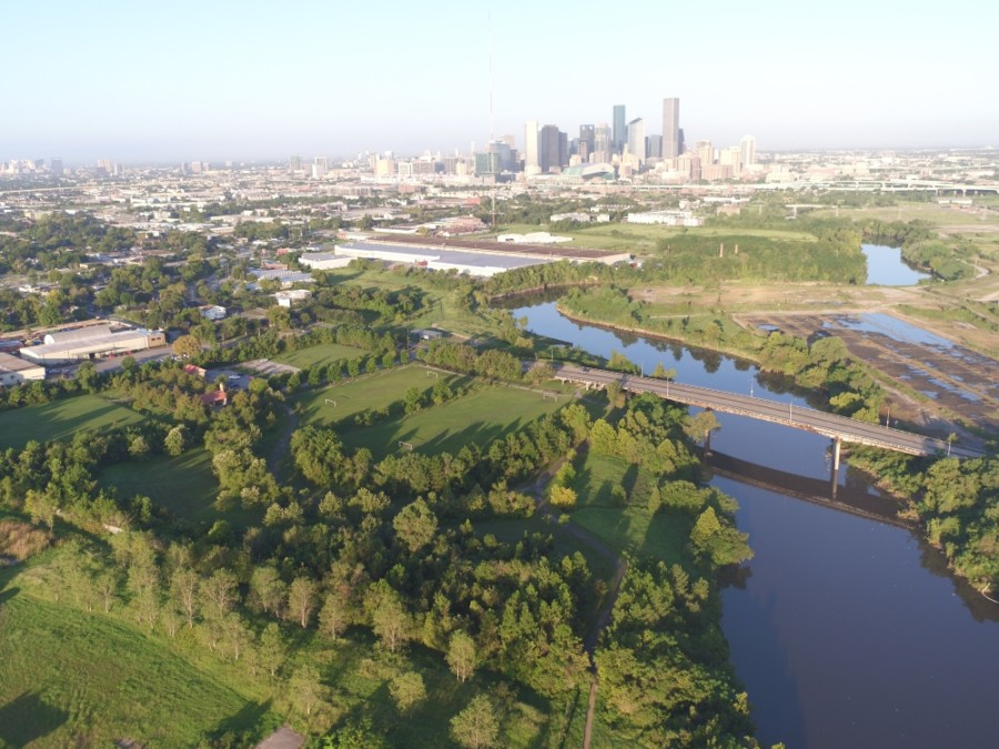 Work can soon begin to implement the Buffalo Bayou Partnership's vision for the east side of the bayou, thanks to a $10 million grant from Houston Endowment. (Courtesy Glenn Cox/Buffalo Bayou Partnership)