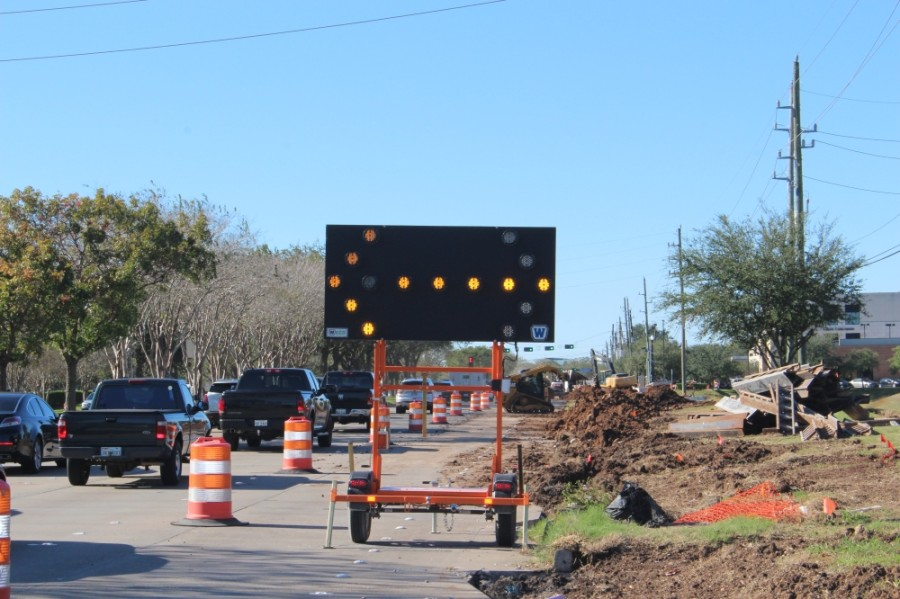 Although the effects of the pandemic on statewide transportation projects remain unclear, local projects, such as Hwy. 6, remain on track. (Claire Shoop/Community Impact Newspaper)