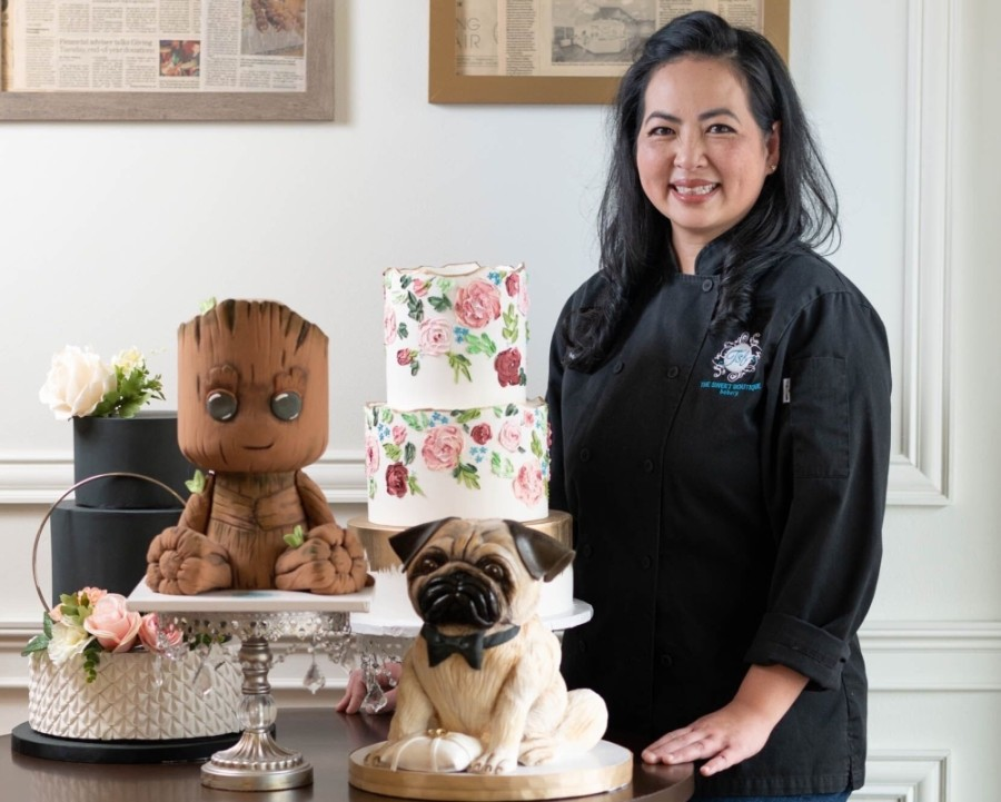 After an eight-year teaching career, Christine Nguyen started her own bakery business—The Sweet Boutique—in Sugar Land Town Square in 2011. (Courtesy Composure Studios)