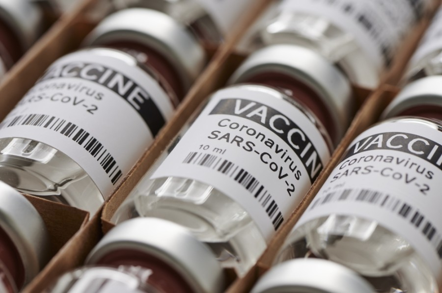 Photo of vaccine bottles