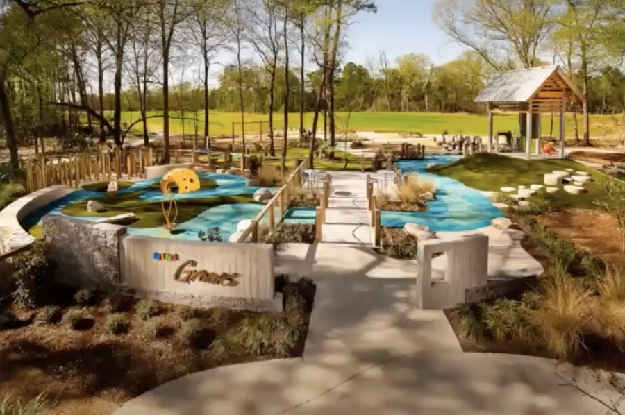 The Groves opened many amenities in 2020, including the Mini Grove. (Screenshot courtesy Partnership Lake Houston)