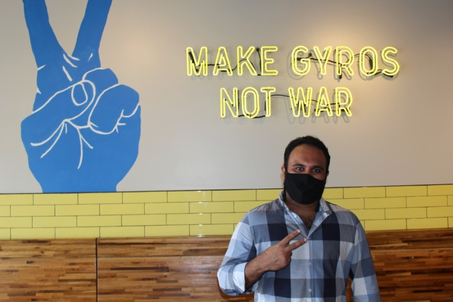 Gyro Republic owner and founder Rehan Ranpuri opened the restaurant in November 2019. (Photos by Claire Shoop/Community Impact Newspaper)