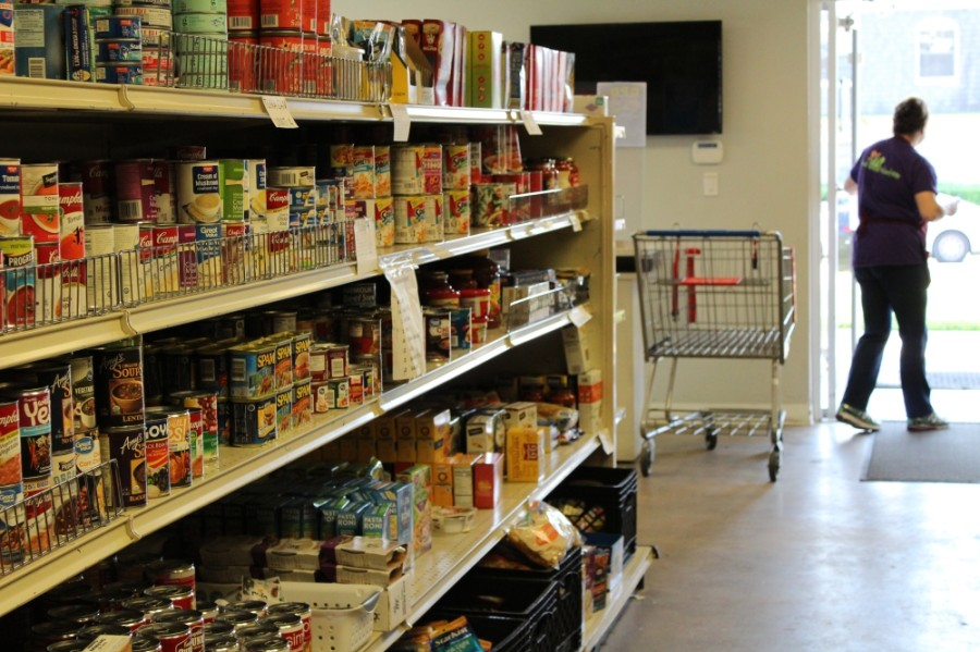 GRACE's food pantry is one of the many services offered to the organization's clients, helping families combat food insecurity. (Sandra Sadek/Community Impact Newspaper)