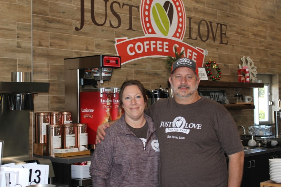 Just Love Coffee Cafe opened in Tomball in late November, owned by Tamara Hamilton and her husband, Jon. (Adriana Rezal/Community Impact Newspaper)