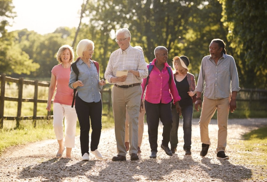 senior living guide stock photo image