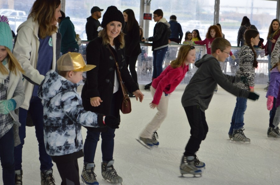Valley Ranch Town Center is transformed into an icy wonderland during the East Montgomery County Improvement District's A Holiday to Remember Ice Skating Event on Dec. 19-Jan. 3. (Courtesy East Montgomery County Improvement District)