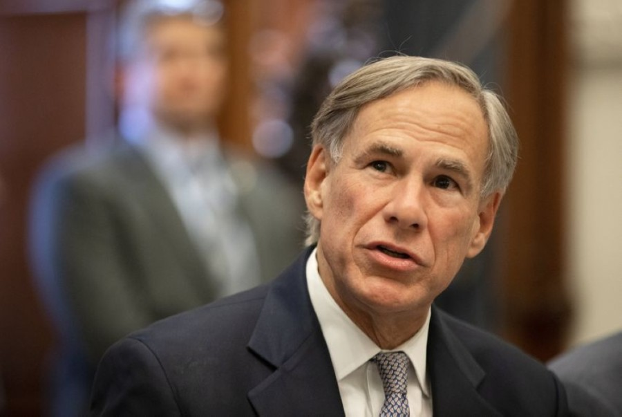 Gov. Greg Abbott spoke in a Dec. 16 address about the logistics involved in the vaccinations currently going on around the state. (Courtesy Miguel Gutierrez Jr./The Texas Tribune)