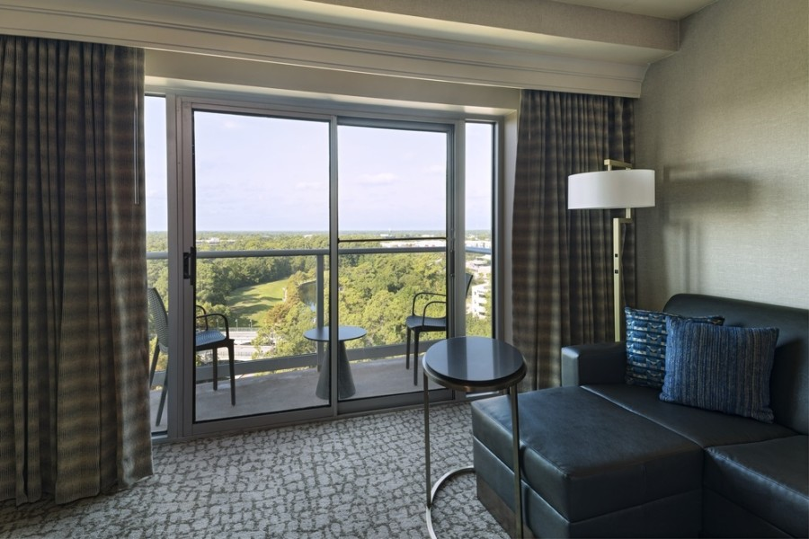 The Woodlands Waterway Marriott Hotel & Convention Center completed improvements to its rooms in 2020. (Courtesy Marriott International)