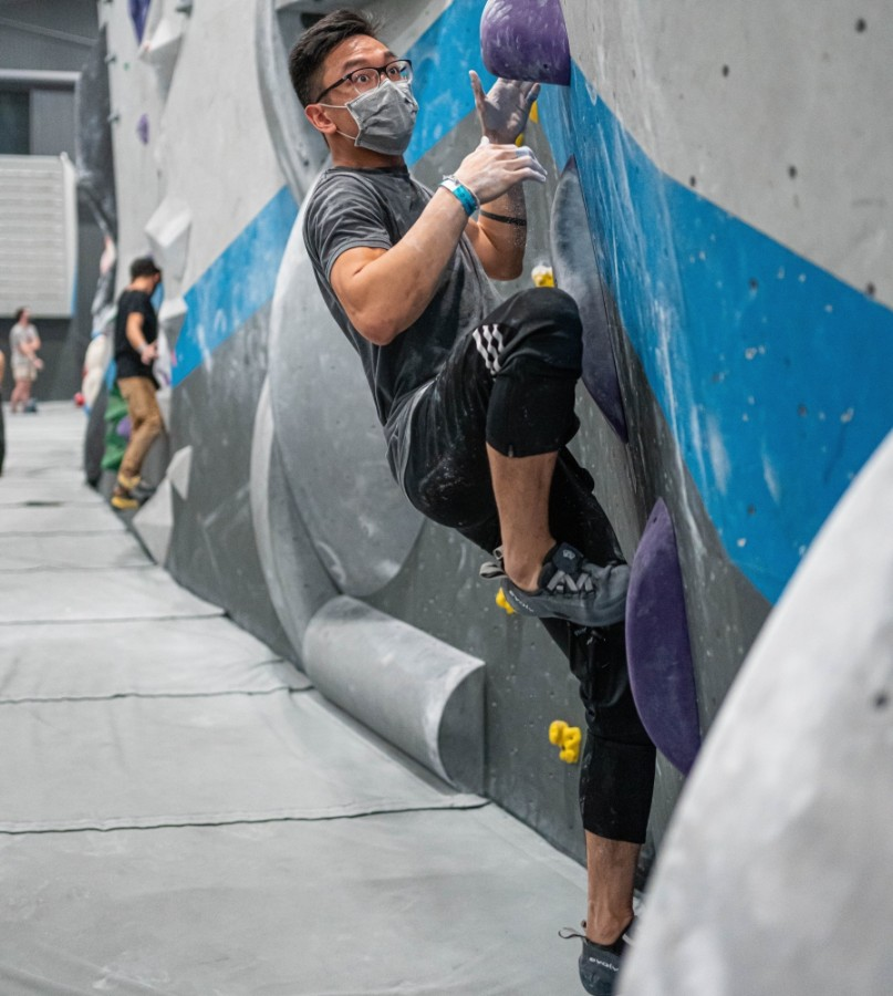 Summit owns and operates a gym across the street that offers bouldering, belay climbing and yoga to members and day pass visitors. (Courtesy Summit Climbing, Yoga and Fitness)