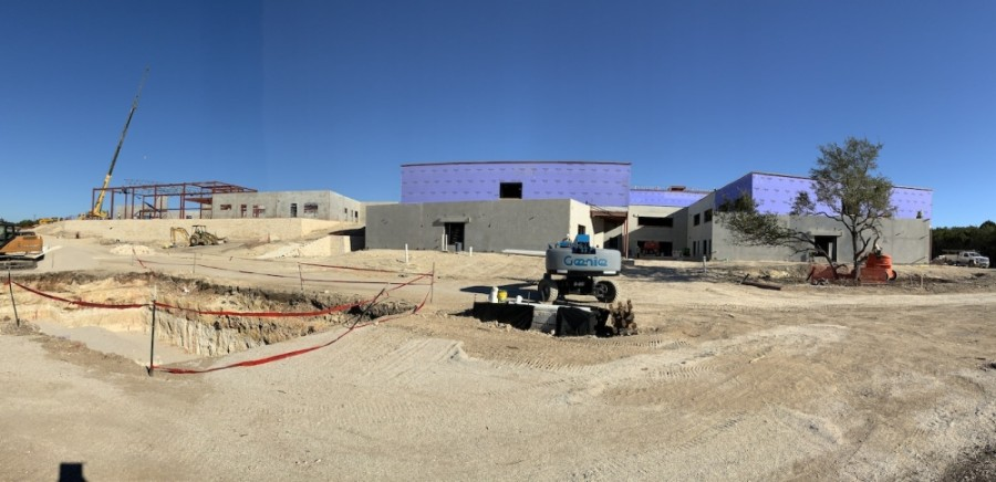 The school at the end of Sawyer Ranch Road is currently under construction. (Courtesy Dripping Springs ISD)