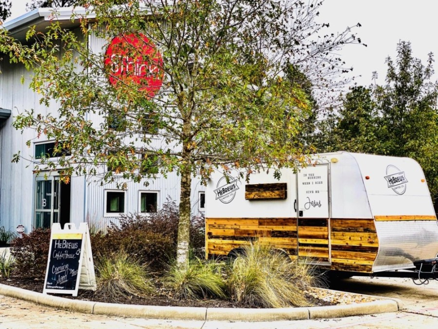 According to business owners Geoffrey and Marsha Wood, HeBrews Community Coffee currently operates out of a mobile camper on Magnolia Circle. (Courtesy HeBrews Community Coffee)