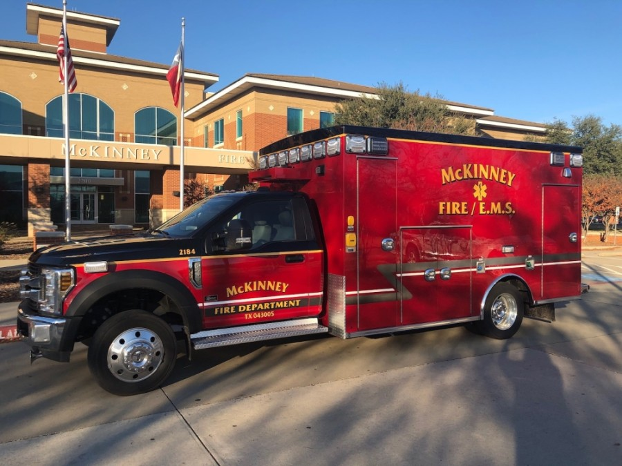 The McKinney Fire Department's new medical unit is built to limit the potential spread of the coronavirus. (Courtesy McKinney Fire Department)