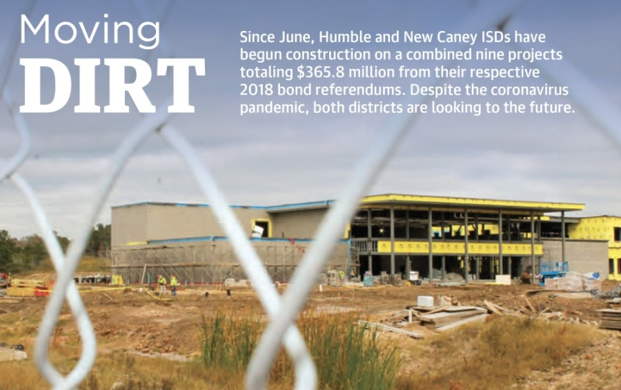 Humble ISD began construction on the $35 million Lakeland Elementary School rebuild in June. (Andy Li/Community Impact Newspaper)