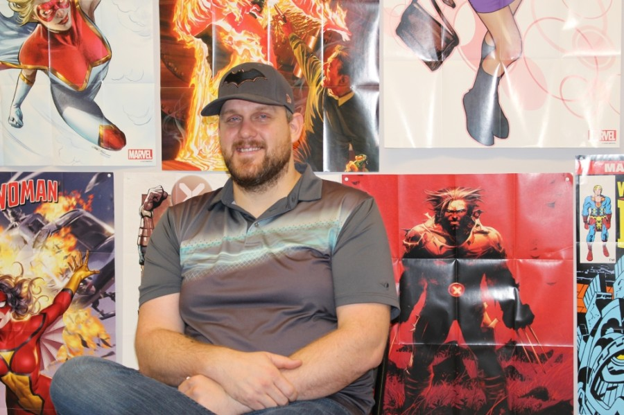 Darrin Stringfield opened Comix Cafe on Business 249 in Tomball in August 2019. (Adriana Rezal/Community Impact Newspaper)