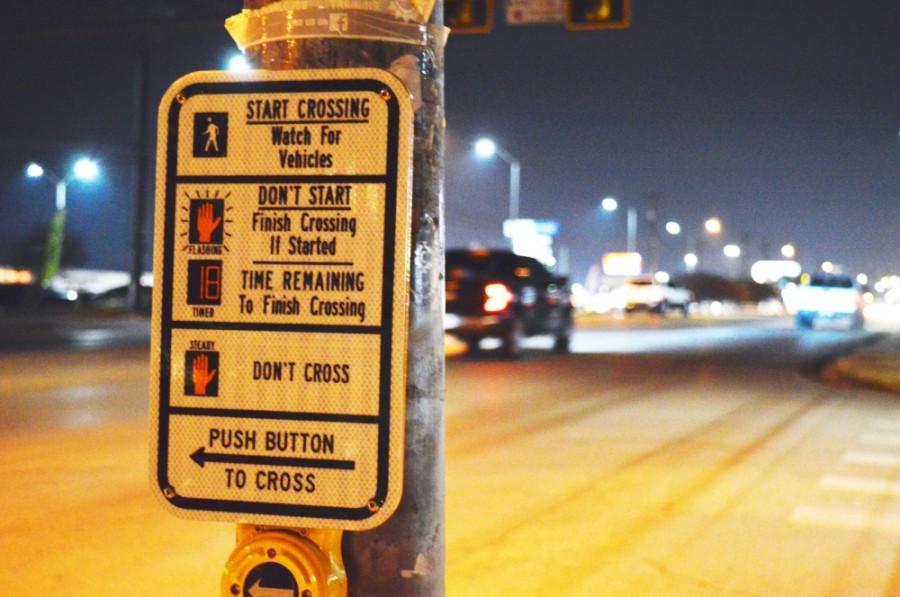 North Lamar pedestrian crossing